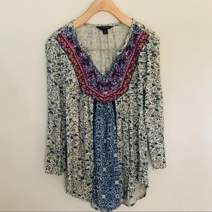 Lucky Brand Embroidered Top XS